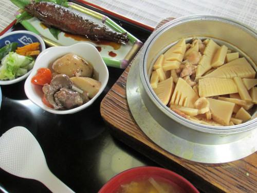 竹の子釜飯ご膳